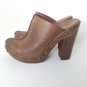 Kork Ease Studded Brown Clog Mules